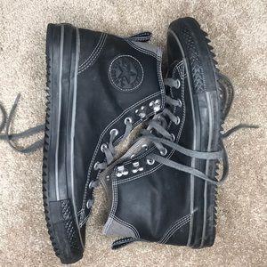 Black Leather City Hiker Converse